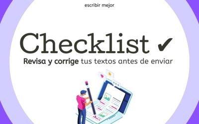 Antes de darle clic a enviar, usa esta checklist ✔ para revisar tus textos